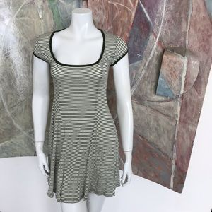 Cooperative Green White Striped Dress SZ Small